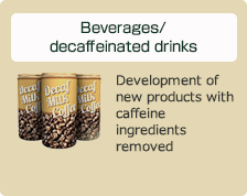 Beverages/decaffeinated drinks: Development of new products with caffeine ingredients removed