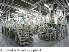 Alcohol extraction plant