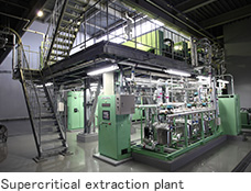 Supercritical extraction plant